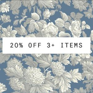 20% OFF THREE OR MORE ITEMS!!